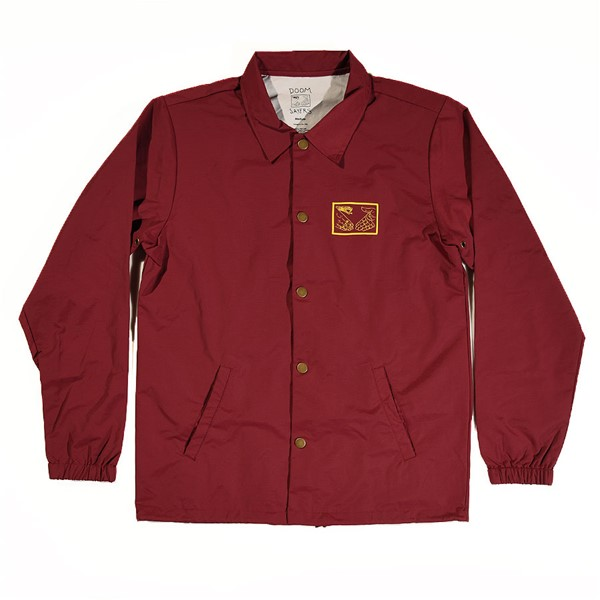 Doom Sayers Snake Shake 2 Coaches Jacket Burgundy
