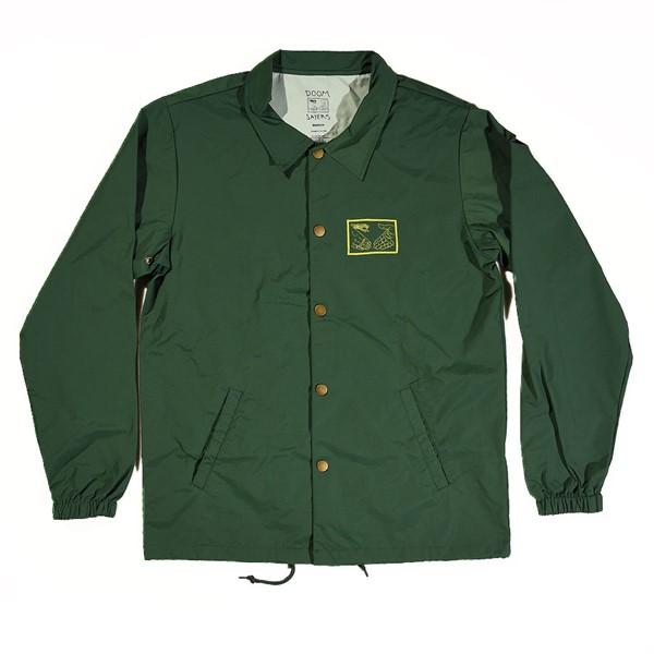 Doom Sayers Snake Shake 2 Coaches Jacket Forest Green