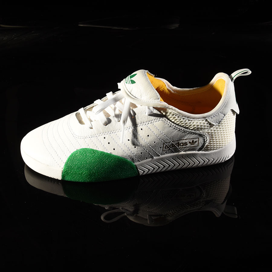 Nakel, White, Green Shoes 3ST.003 Shoe in Stock Now