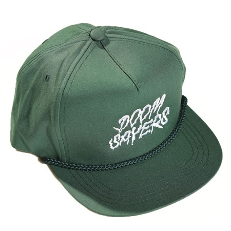 Doom Sayers Squiggle Snap Back Hat Forest Green