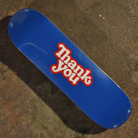 Thank You Thank You Logo Deck Blue