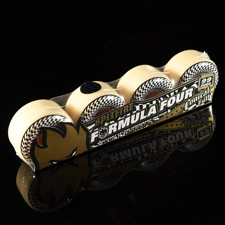 Spitfire Wheels F4 99 Check Conical Full Wheels White