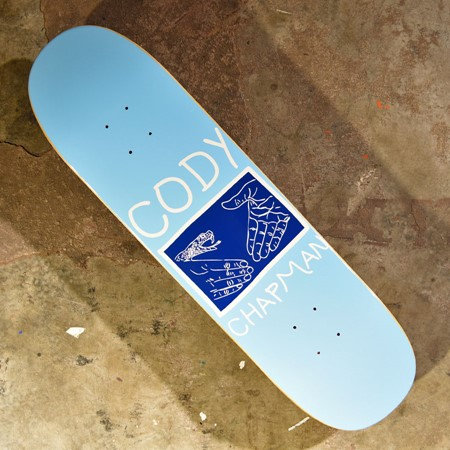 Doom Sayers Cody Chapman Pro Snake Shake Deck Blue, White