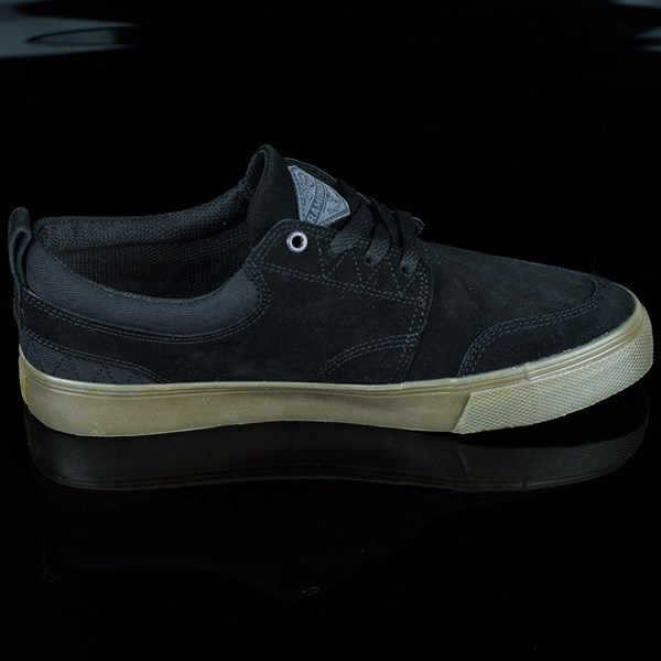 HUF Ramondetta Pro Shoes Black, Dark Gum Rotate 3 O'Clock