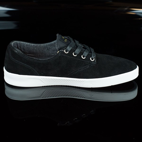 Emerica The Romero Laced Shoes Black, White Rotate 3 O'Clock
