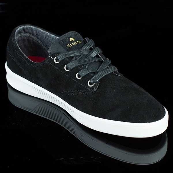 Emerica The Romero Laced Shoes Black, White Rotate 4:30