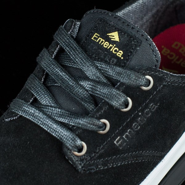 Emerica The Romero Laced Shoes Black, White Tongue