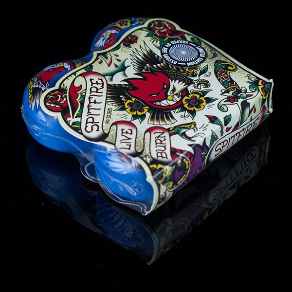 Spitfire Wheels Jeff Grosso OG Flash Wheels Blue Packaging.