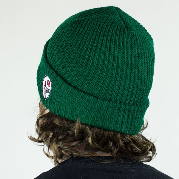 Transportation Unit H-Bird Beanie Forest Green From the back.