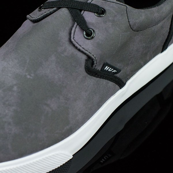 HUF Genuine Shoes Black Crystal Wash Closeup