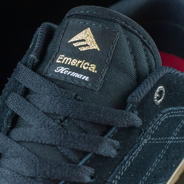 Emerica The Herman G6 Vulc Shoes Black, Gum Tongue