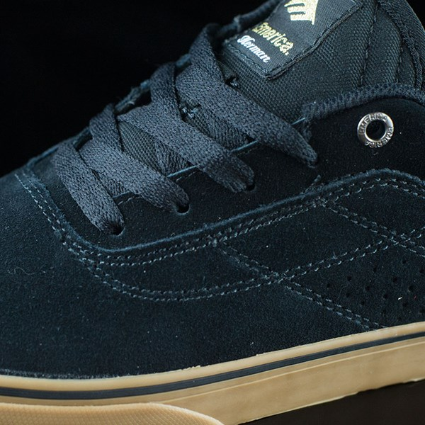 Emerica The Herman G6 Vulc Shoes Black, Gum Closeup