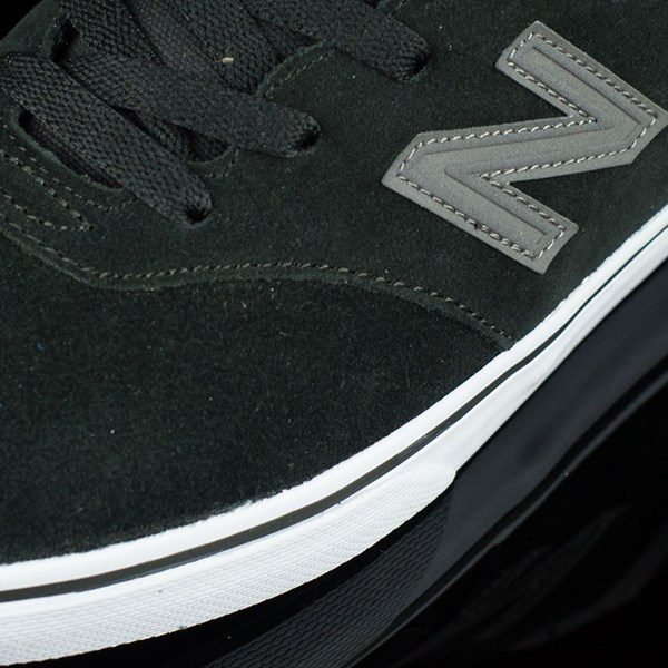 NB# Quincy Shoes Black, Magnet Grey Closeup