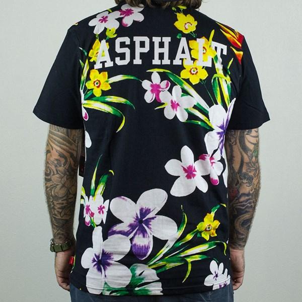 Asphalt Yacht Club Varsity Tropics T Shirt Black From the back.
