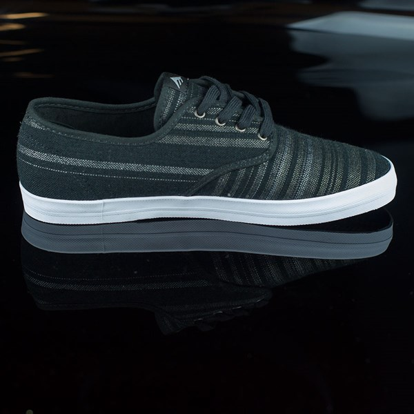 Emerica The Wino Shoes Black, Grey Rotate 3 O'Clock