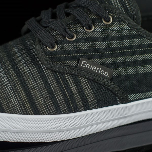 Emerica The Wino Shoes Black, Grey Closeup