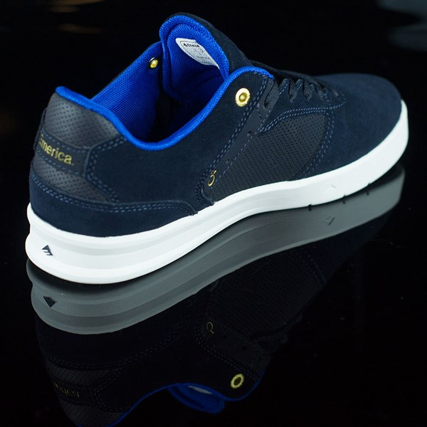 Emerica The Reynolds Low Shoes Dark Navy Rotate 1:30