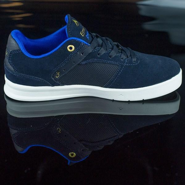 Emerica The Reynolds Low Shoes Dark Navy Rotate 3 O'Clock