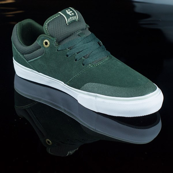 etnies Marana Vulc Shoes Dark Green Rotate 4:30