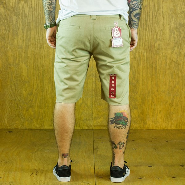 Expedition Drifter Shorts Khaki From the back.