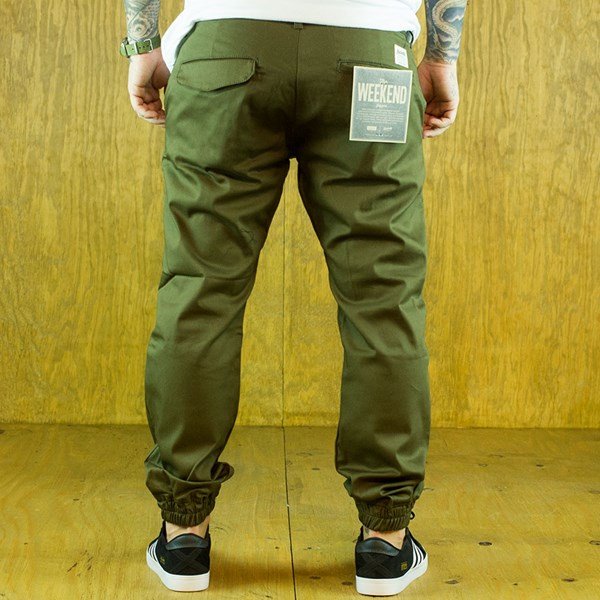 Kennedy Denim Co The Weekender Essentials Army Green From the back.