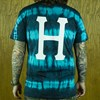 HUF Static Wash Classic H T Shirt Jade From the back.