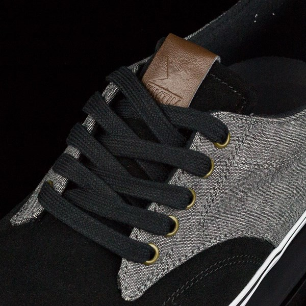 Dekline TimTim Shoes Black, Pewter Tongue