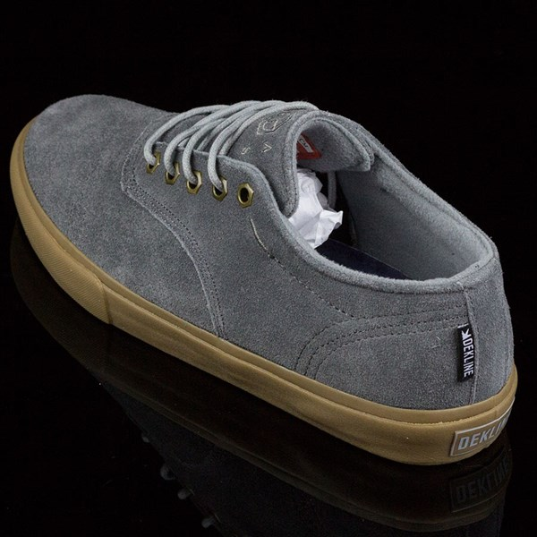 Dekline Jaws Shoes Mid Grey, Gum Rotate 7:30