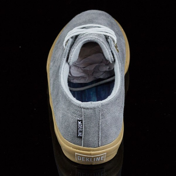 Dekline Jaws Shoes Mid Grey, Gum Rotate 12 O'Clock