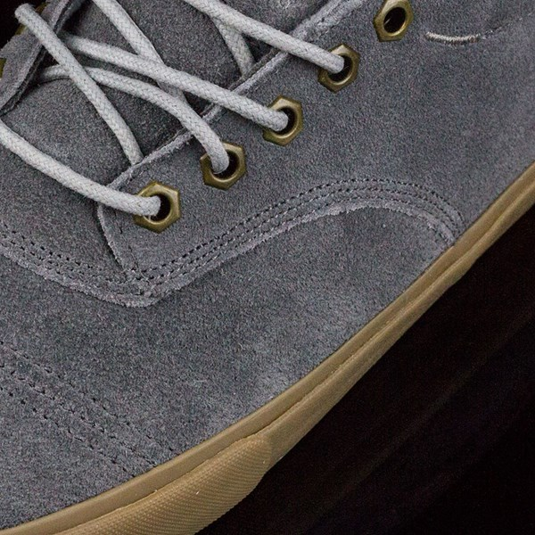 Dekline Jaws Shoes Mid Grey, Gum Closeup