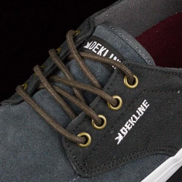 Dekline Mason Shoes Smoke, Pewter Tongue