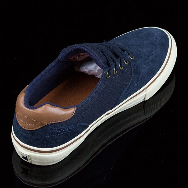 Dekline Wayland Shoes Navy, Antique Rotate 1:30