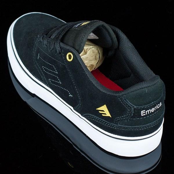 Emerica The Reynolds Low Vulc Shoes Black, White Rotate 7:30