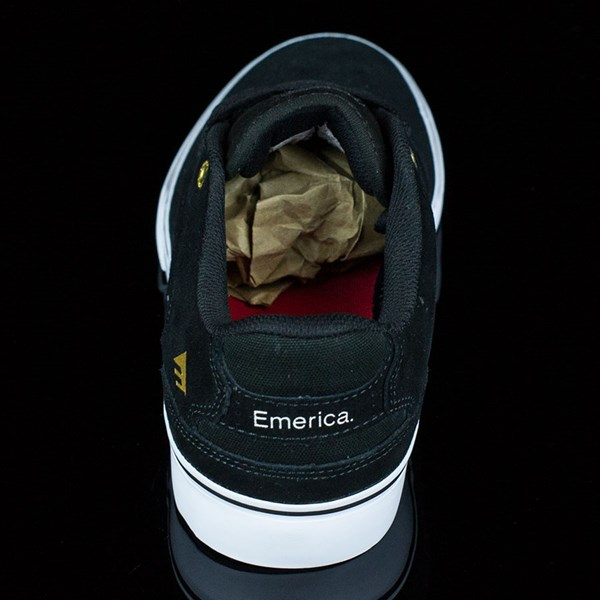 Emerica The Reynolds Low Vulc Shoes Black, White Rotate 12 O'Clock