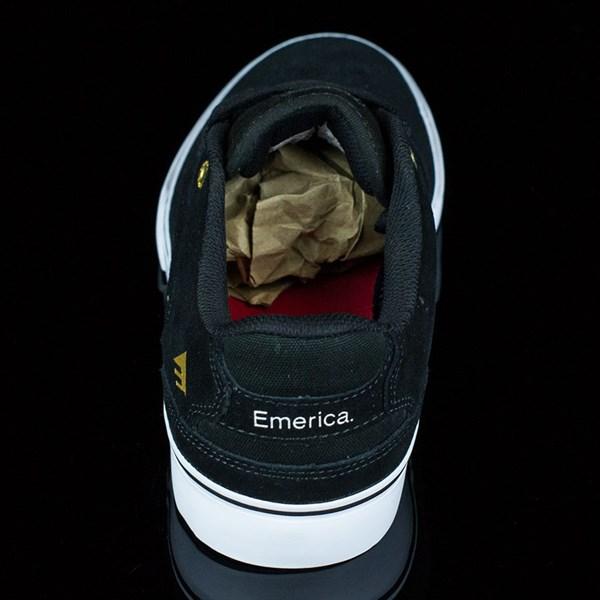Emerica The Reynolds Low Vulc Shoes Black, White Rotate 12 O'Clock