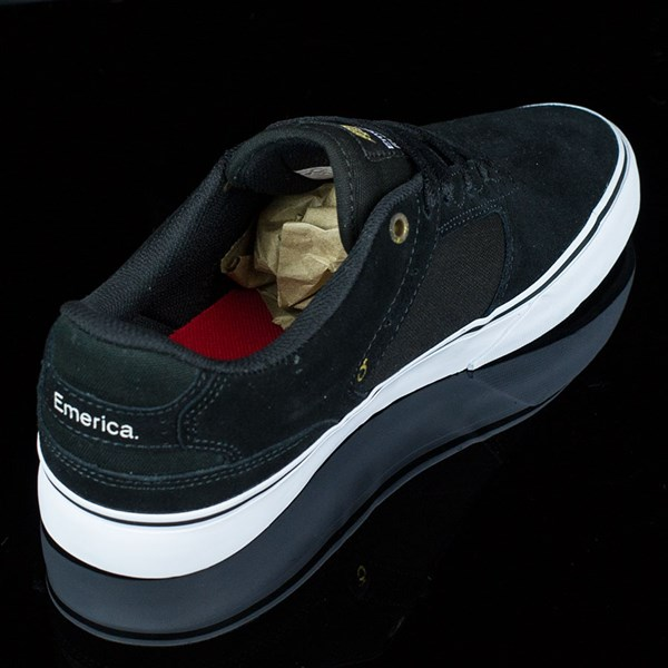 Emerica The Reynolds Low Vulc Shoes Black, White Rotate 1:30