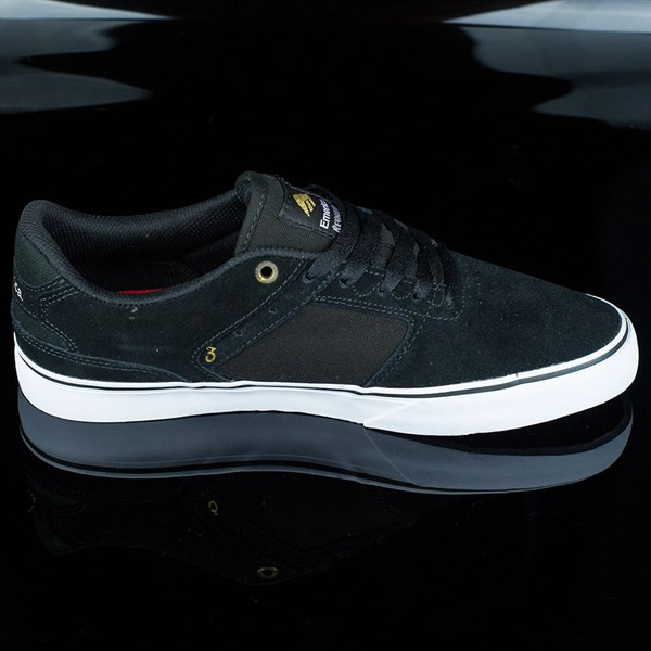 Emerica The Reynolds Low Vulc Shoes Black, White Rotate 3 O'Clock