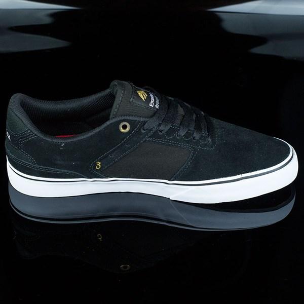 Emerica The Reynolds Low Vulc Shoes Black, White Rotate 3 O'Clock