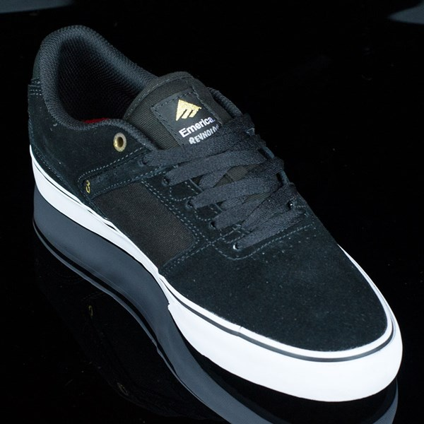 Emerica The Reynolds Low Vulc Shoes Black, White Rotate 4:30