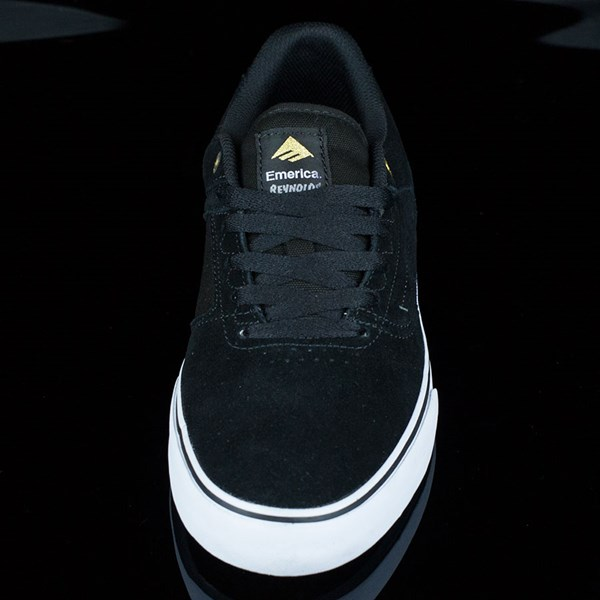Emerica The Reynolds Low Vulc Shoes Black, White Rotate 6 O'Clock