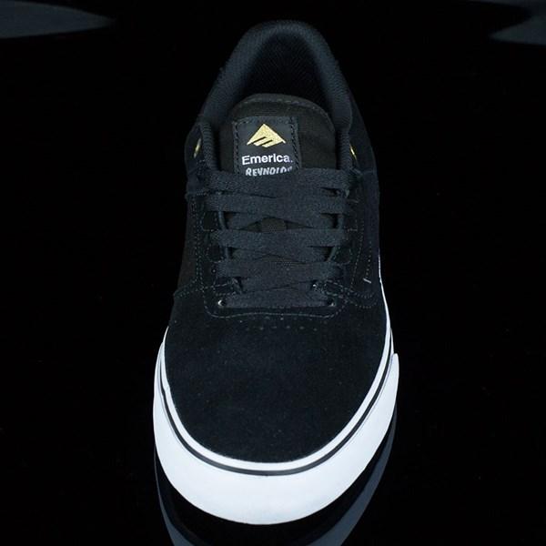 Emerica The Reynolds Low Vulc Shoes Black, White Rotate 6 O'Clock