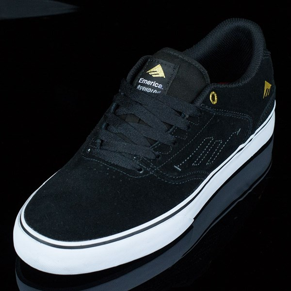 Emerica The Reynolds Low Vulc Shoes Black, White Rotate 7:30