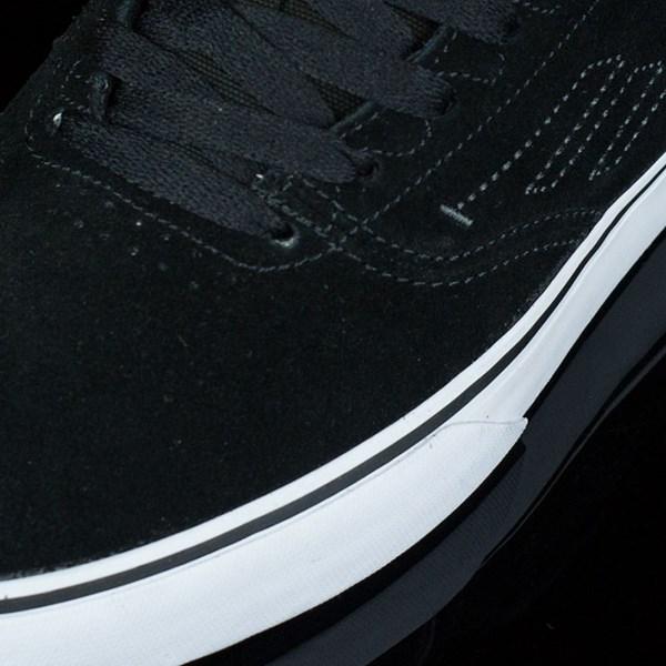 Emerica The Reynolds Low Vulc Shoes Black, White Closeup