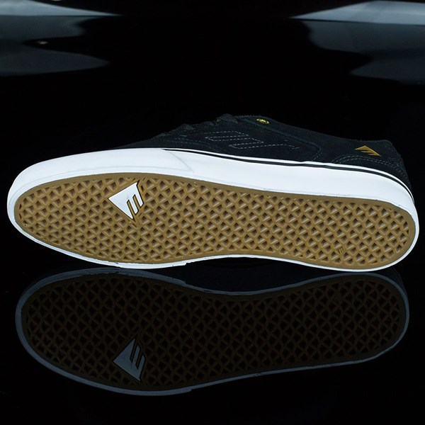 Emerica The Reynolds Low Vulc Shoes Black, White Sole