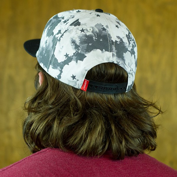 Asphalt Yacht Club Clash Snap Back Hat Black, White From the back.