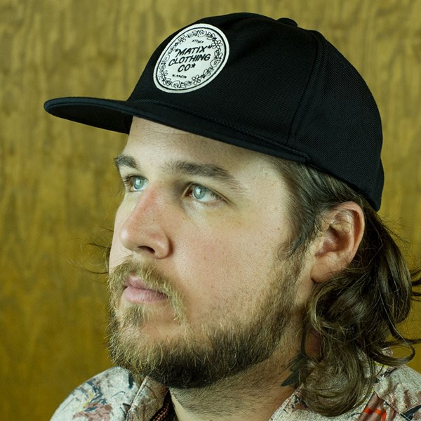 Matix Gravediggers Snap Back Hat Black From the front.