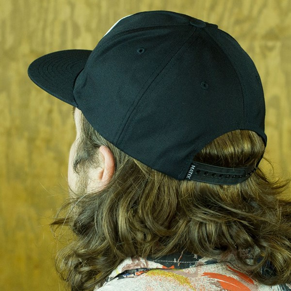 Matix Gravediggers Snap Back Hat Black From the back.