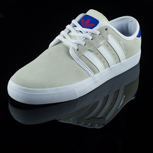 adidas Seeley Shoes White, Royal, Gum, Donnelly Rotate 7:30