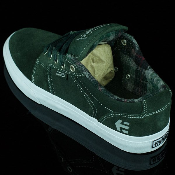 etnies Barge LS Shoes Forest Green Rotate 7:30