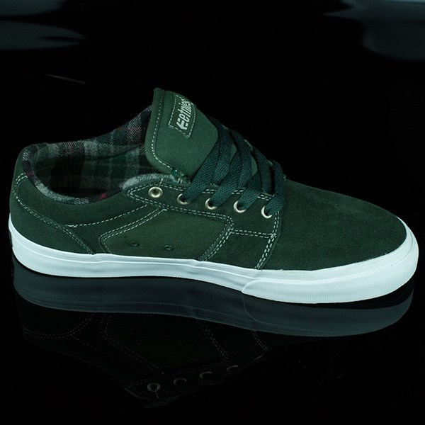 etnies Barge LS Shoes Forest Green Rotate 3 O'Clock